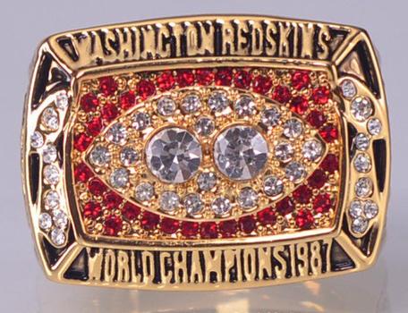 NFL Washington Redskins Super Bowl XXII Replica Ring Size 10