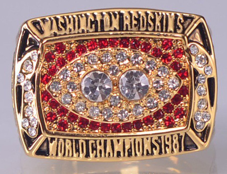 NFL Washington Redskins Super Bowl XXII Replica Ring Size 12