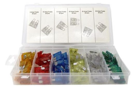 New 120-pc. Assorted Car Fuse