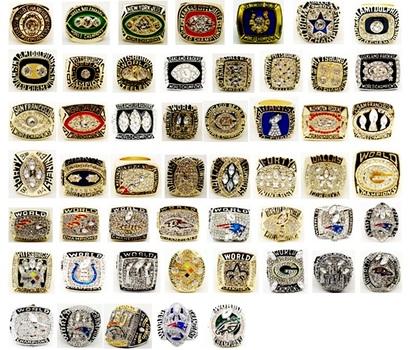 NFL 25 Super Bowl Championship Replica Rings Size 10 Retail $599.99