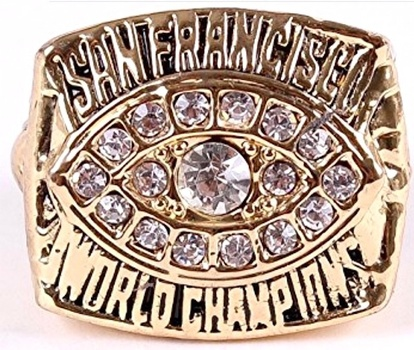 Joe Montana 49ers 1981 Super Bowl XVI Championship Replica Ring Size 10