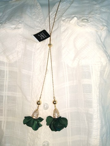 INC Crystal & Chain Necklace