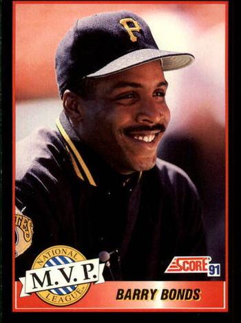MLB Barry Bonds MVP Baseball Card Mint Condition