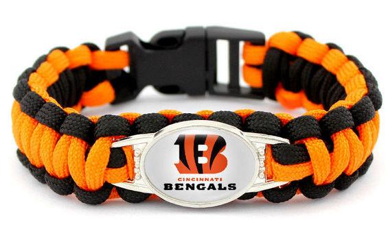 New Cincinnati Bengals  Paracord Survival Bracelets