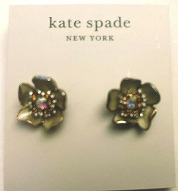 New Kate Spade Earrings With Crystals
