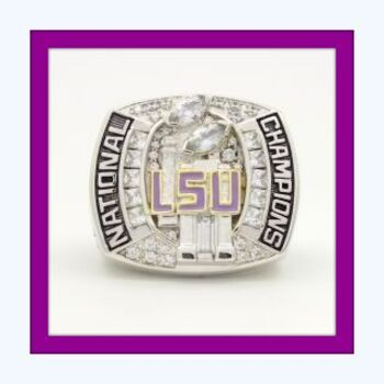 NCAA LSU Tigers Championship Replica Ring Size 11