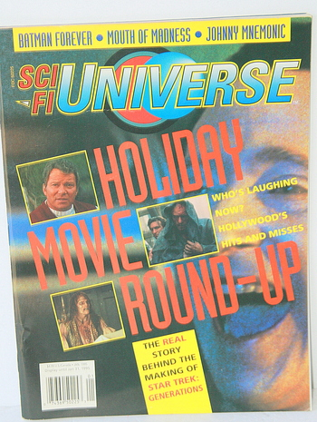Collectible SCI FI Universe Holyday Movie Round Up Magazine