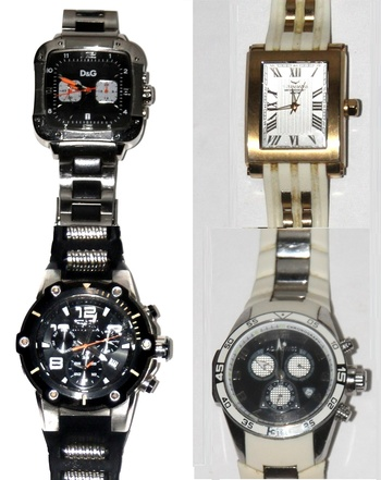 4 High End Watches Invicta D&G and Aquaswiss