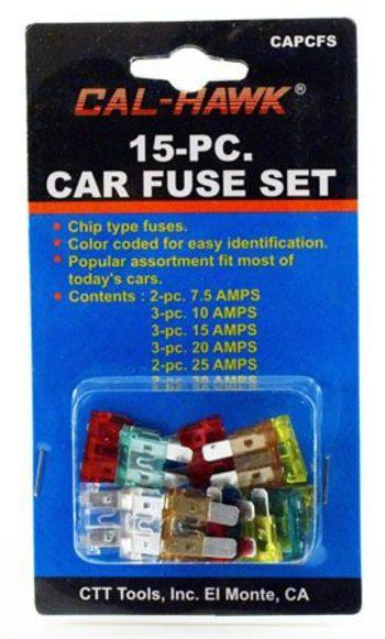 15 Piece Car Fuse Set