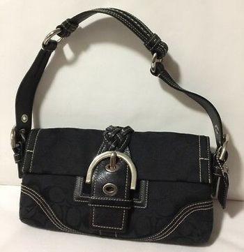 Coach Signature Leather Handbag Bag