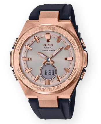 New Casio G-MS Black and Rose Gold Ana Digi Ladies Watch Retail $199.99