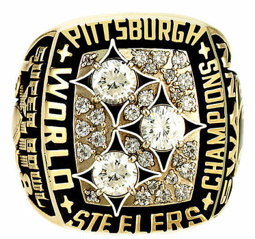 NFL Terry Bradshaw Pittsburgh Steelers Super Bowl XIII Championship Replica Ring Size 10