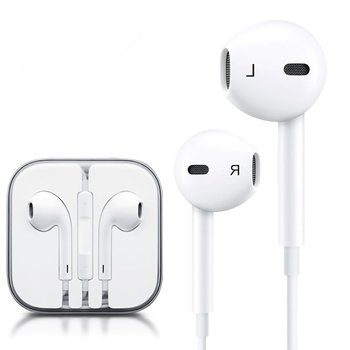 Earphones with Microphone Premium Earbuds Stereo Headphones and Noise Isolating headset Made for Apple iPhone iPod iPad -White