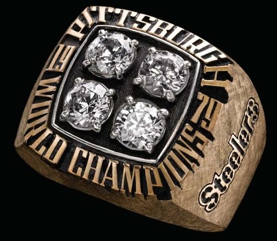 NFL Pittsburgh Steelers Super Bowl XlV Replica Ring Size 9