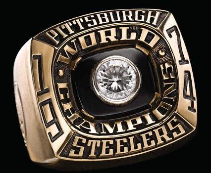 NFL Pittsburgh Steelers Super Bowl IX Replica Ring Size 9