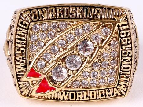 NFL Washington Redskins Super Bowl XXVI Replica Ring Size 11