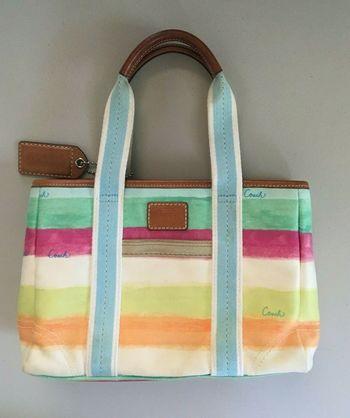 COACH Signature L0720-F10924 Tote Purse Handbag