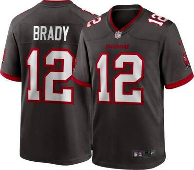 New NIKETampa Bay Buccaneers Tom Brady Game Jersey, Size 3X-Large