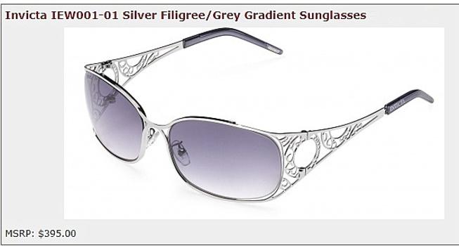 New Made In ITALY Invicta IEW001 Corduba Cosmos Filigree Sunglasses