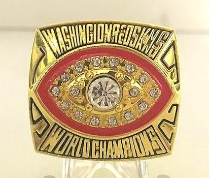 New John Riggins Washington Redskins High Quality Replica 1983 Super Bowl XVII Replica Ring, Size 11