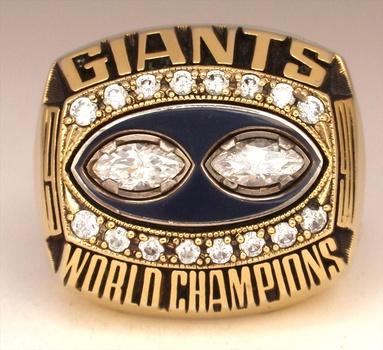 New York Giants 1990 Super Bowl XXV Championship Replica Fan Ring Size 10
