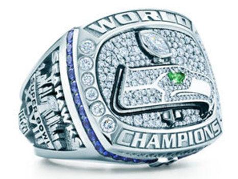 Russell Wilson 2013 Super Bowl XLVIII Championship Replica Ring Size 10