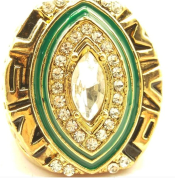 2014 Green Bay Packers Rodgers Football NFL Super Bowl 18k Gold Plated Championship Replica Ring