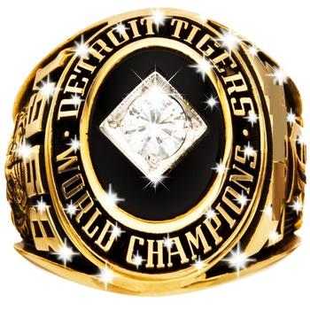 McLain1968 Detroit Tigers World Series Championship REPLICA Ring