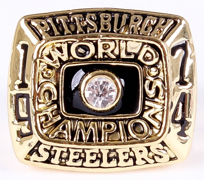 NFL Pittsburgh Steelers Super Bowl IX 1974 Replica Ring Size 12