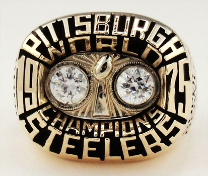 NFL Franco Harris Pittsburgh Steelers 1975 Super Bowl X Championship Replica Ring Size 9