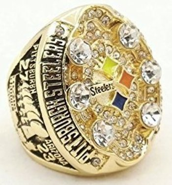 NFL Pittsburgh Steelers 2008 XLIII Super Bowl Championship Replica Ring Size 11