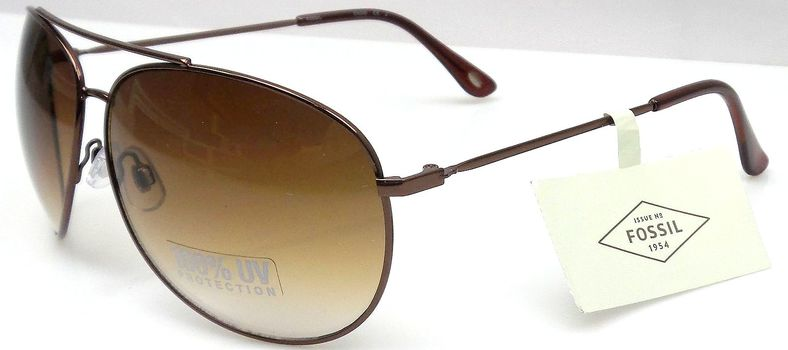 New Fossil Aviator Sunglasses Unisex