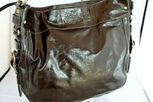 Coach Grey Patent Leather Bag