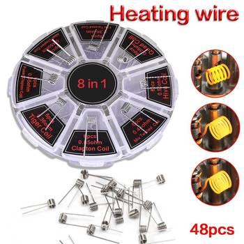 48pcs 8 In1 Demon Killer RDA Wire Prebuilt Spirals Fused Clapton Twist Coils Set