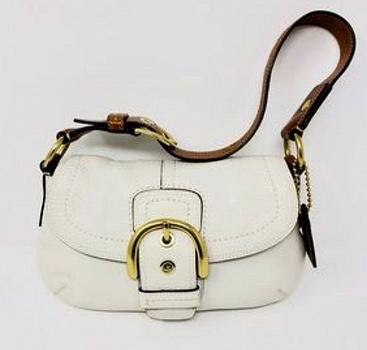 Coach Signature Hobo Leather Satchel Bag Handbag