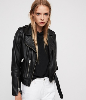 LADY RIDER FAUX LEATHER BIKER JACKET