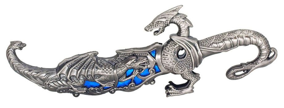 "10"" Fantasy Dragon Dagger Blade Knife Sword"