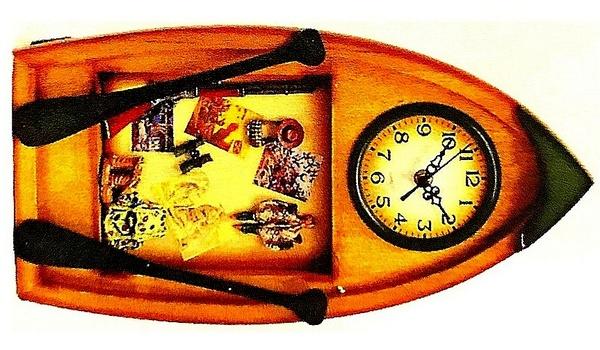 New Hunting Boat Clock Decor