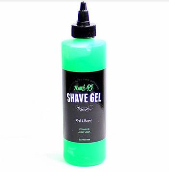 New Tomb45 Shave Gel w/ Aloe Vera 8 oz MADE BY BARBERS
