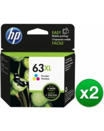 NEW 2 Pack of HP 63XL Tri-color High Yield Original Ink Cartridge: Retail $75.95
