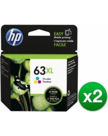 2 Pack of HP 63XL Tri-color High Yield Original Ink Cartridge: Retail $75.95
