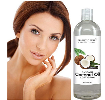 Majestic Pure Fractionated Coconut Oil, 16 Oz For Skin, Hair and More