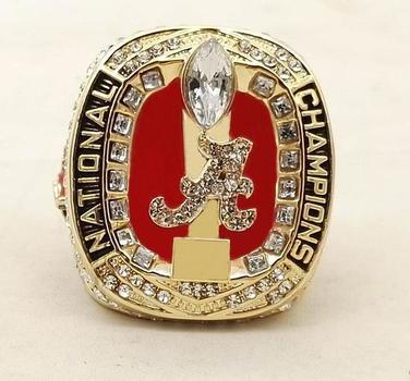 Alabama Crimson Tide NCAA Football 2017 Championship Replica Ring Size 9