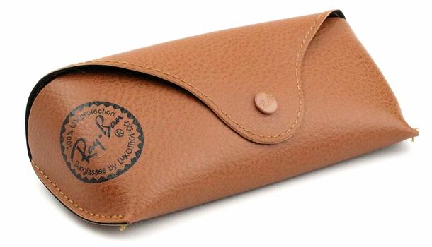 Ray Ban Original Brown Leather Sunglasses Case