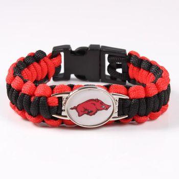 Arkansas Razorbacks Paracord Bracelet