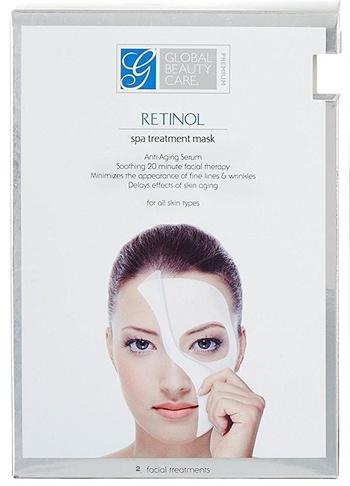 New Global Beauty Care Retinol Spa Anti-Aging Treatment Mask Pack of 2
