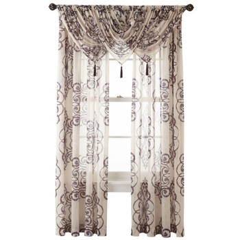 Royal Velvet® Ardesia Rod-Pocket Sheer Curtain Panel - Midnight Purple