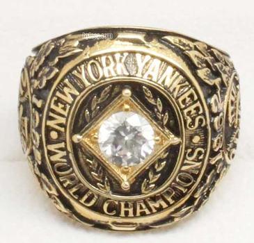 MLB New York Yankees 1962 World Series Replica Ring Size 10