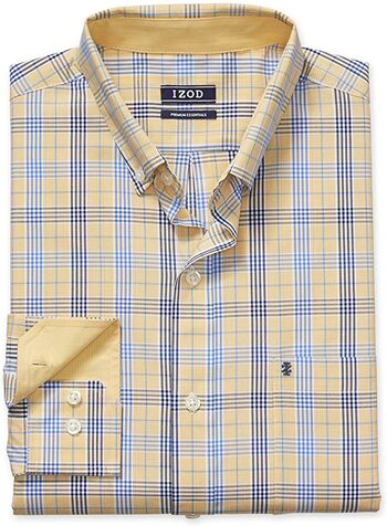 IZOD Men's Button Down Long Sleeve Small