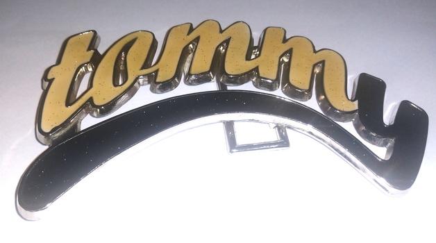 "tommy Belt Buckle 6"" x 3"""